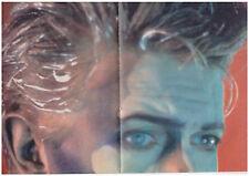 ★ David Bowie: 4-seitiges Poster zu 'Blue Jean', pop Rocky '84