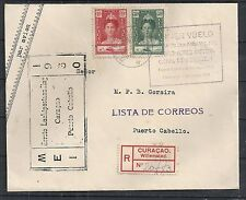 Curacao covers 1930 1st Flightcover Willemstad-Puerto Cabello