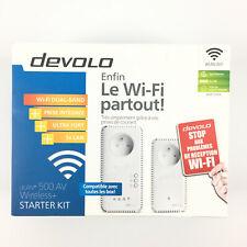 Lot 2 Prise Adaptateurs CPL Devolo Dlan 500 AV Wireless Wifi / 500 Mbits/s mo