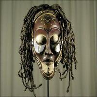 88641) Afrikanische Chokwe Holz Maske Kongo Afrika KUNST