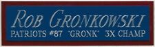 ROB GRONKOWSKI PATRIOTS NAMEPLATE AUTOGRAPH Signed FOOTBALL JERSEY PHOTO HELMET