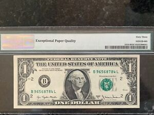 1977A USA BANKNOTE $1 BILL  INSUFFICIENT INKING ERROR UNCIRCULATED      1008