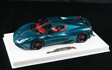 1/18 BBR FERRARI 458 SPECIALE A COUPE ARTHEMIS GREEN ON DELUXE BASE LE 10 PCS