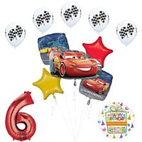 Disney Cars 3 Lighting McQueen 6th Birthday Party Supplies