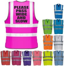 Pass Slow Horse Riding Hi-Vis Saftety Vest Equestrian High Visibility Waistcoat
