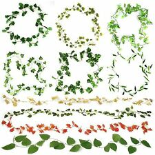 Ivy Leaf Chain Vine Garlands! Buy 3 Get 1 FREE! Many Varieties! Over 2 Metres!