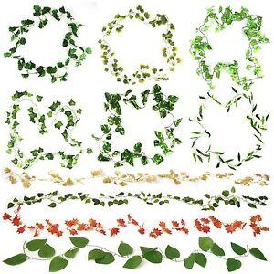 Ivy Leaf Chain Vine Garlands! Buy 3 Get 1 FREE! Many Varieties! Over 2 Metres!