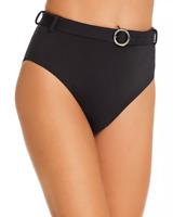 Aqua Belted High-Waist Bikini Bottom MSRP $48 Size XS # U8B 314 NEW