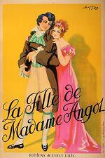 Original Vintage Poster La Fille de Madame Angol by Choppy 1920 French Opera