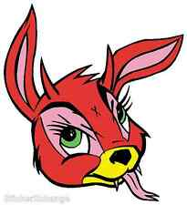 Mini Size Frank Kozik Sticker Decal Bunny Evil KZ28B