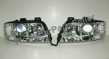 Audi A6 C5 Sedan Wagon Headlights SET New DEPO Clear CHROME PAIR 2002-2004