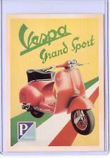 VINTAGE REPRO VESPA GRAND SPORT ADVERTISING REPRODUCTION POSTCARD