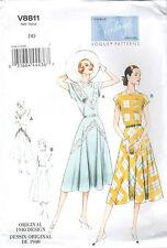 Patrón De Corte Vestido 1940 (8811); Gr.38-44