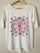 Cotton Blend Floral Basic Tees for Women