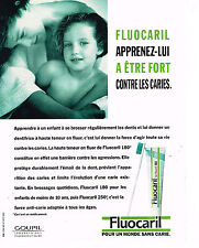 PUBLICITE ADVERTISING 074  1992   FLUOCARIL   dentifrice LABORATOIRE GOUPIL