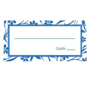 Reception Event Seating Table Name Cards - Qty 24 -Blue - USA Made Fast Shipping