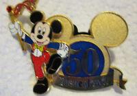 "Official Disney Pin ""Disneyland 50 Year Anniversary"""