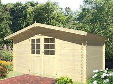 Gerätehaus 28mm Potsdam 3 4x3m Gartenhaus Geräteschuppen Holz Gerätehäuser