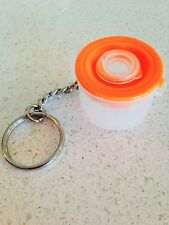 Tupperware Orange Mix N Store Batter Bowl Keychain Rare New