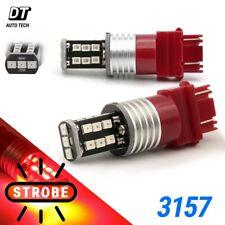 Syneticusa 3157 LED Strobe Flash Brake Tail Stop Light Parking Warning Bulbs