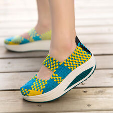 Womens Elastic Braided Shape-Ups Walking Casual Athletic Slip on Shoes COmfy New