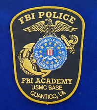 FBI Academy Police Patch USMC Base Quantico #PUS1