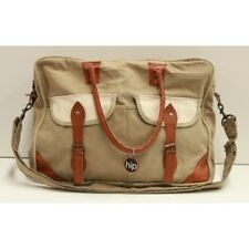 Canvas and Leather Unisex Messenger Bag