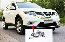 Chrome Front Fog Light Cover Trim for 2014-2016 Nissan X-Trail Rogue T32