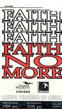 FAITH NO MORE USED CONCERT TICKET 29 th OF JUNE 1993 LISBON PORTUGAL MIKE PATTON