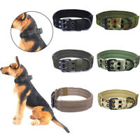 5-rank Military Tactical Dog Training Collar Adjustable Nylon Leash Metal Buckle