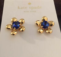 $48 KATE SPADE NEW YORK Sunset Blooms Floral Stud Earrings Blue #A22