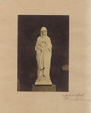 Photo d'une sculpture avec dédicace Jean-Marie Bonnassieux Vintage albumine