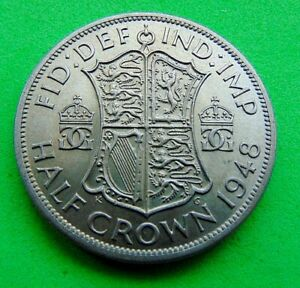 A  CHOICE  MINT  UNC  *1948*  HALFCROWN ...LUCIDO_8  COINS