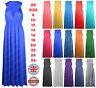 New Womens Maxi Dress Ladies Plus Size Stretch Flared Spring Coil Long Maxi