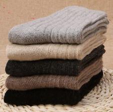 10 Pairs 100/% Wool Cashmere  Mens Dress Socks Warm Winter Super Comfortable 4-7