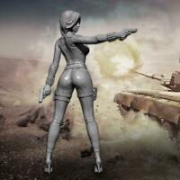1/24 75mm Double Gun Girl Resin Soldier Td-202019 R4Y5