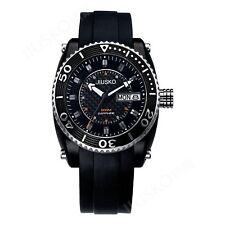 JIUSKO Mens Deep Sea 200m Multifunction Black Rubber Diving Watch - 38LB0202