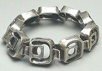 Massives Design Silber Armband Handarbeit 925 Silber Meisterpunze / A875