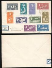 FALKLAND ISLANDS SOUTH GEORGIA 1964 REGISTERED 10 values PICTORIALS to 1/-
