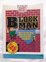 Vintage Block Man Cyber Geist PC Game Brand New Sealed 3.5 Disk IBM Tandy RARE