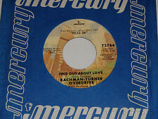 BACHMAN-TURNER OVERDRIVE Lookin Out For #1 / Find Out About Love Mercury 73784