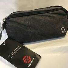 Large Canvas Pencil Case W/ Double Strong Zippers Compartments Adults / Kids NEW