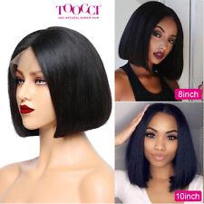 8-12'' Brazilian Thick Heavy Human Hair Short Bob Lace Front Wig High Density