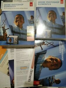 Adobe Photoshop Elements 9 Win DVD Mac DVD Papers Box Case + Serial Number USED