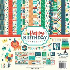 "Echo Park ""Happy Birthday Boy"" 12x12 Scrapbook Kit Papers + Stickers Party"