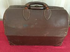 VINTAGE EMDEE BY SCHELL DOCTORS MEDICAL BAG  LEATHER COWHIDE STEAMPUNK CASE