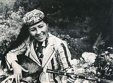 OUZBÉKISTAN c. 1950 - Chanteuse instrument de Musique Ouzbèque - DIV 5262