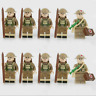 10 PCS Minifigures WW2 British Army Military Weapons Medical Soldiers Custom MOC