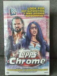2021 Topps CHROME WWE Wrestling Hobby BOX FACTORY SEALED 2 Autos Per Box