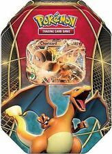 Charizard EX Tin Box Pokemon TCG with 4 Booster Packs Trading Card Game - FAST!
